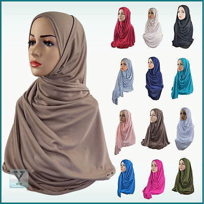 2f15387e8f68 One Piece Hijab ✿ Ready Made Pull on Scarf Jersey Instant Pin free Amira  islamic