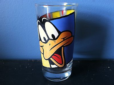 "Vtg 1994 DAFFY DUCK & BUGS BUNNY Glass 5.5"" Warner Bros Looney Tunes Collectible"