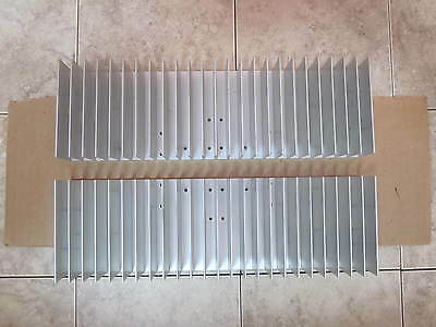 Aluminum Heat Sink  * Lot Of 2 * Very Good Condition *