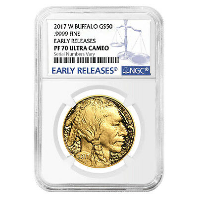 PRESALE - 2017-W 1 oz $50 Proof Gold American Buffalo NGC PF 70 Early Releases