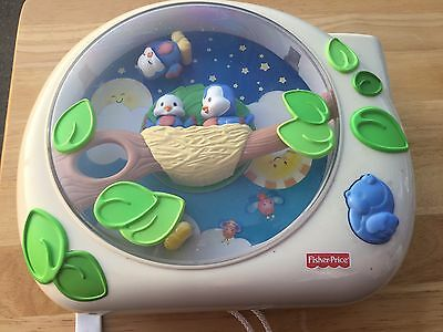 Fisher Price Flutterbye Dream Lullaby Birdies Baby Crib Soother Projector Light