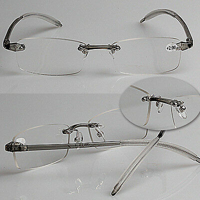Memory Rimless Eyewear Ultra-High-End Reading Glasses High Quality 1.0 To 4.0