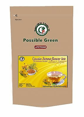 Senna Flower Herbal Tea Laxative Tropical Rare Herb For Weight Loss 40 Bags,80g