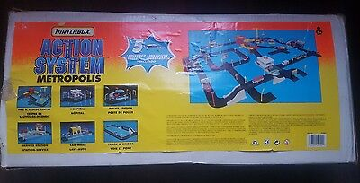 Vintage 1996 Matchbox Action System Metropolis RARE In Box W/Instructions