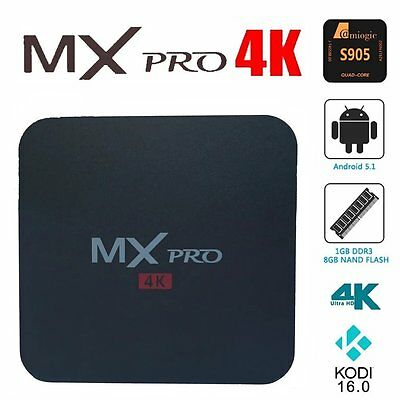 MX Pro Smart TV Box Amlogic S905 Android 5.1 1G / 8G Streaming Media Players