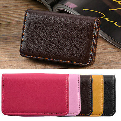 Business ID Credit Card Wallet Holder PU Leather Pocket Case Waterproof