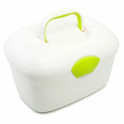 The Neat Nursery Co. Ergo Baby Bedroom Bath Storage Box Organiser - White / Lime