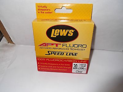 Lew's LAPTF20 NCL APT Fluorocarbon Speed Line 20 lbs 200 Yards Transparent Clear