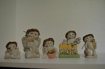 """Lot Of 5 Adorable Dreamsicles Cherub Figurine Approx. 3-5"""" Tall Nice Collection"""