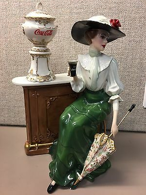 "SALE!Coca Cola Lady Heirloom Sculpture ""Emily"" A2055 Franklin mint, Very Rare"