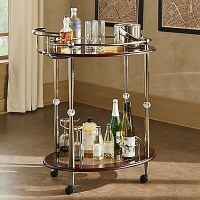 Verona Home Gladys Metal Bar Cart in Antique Brass