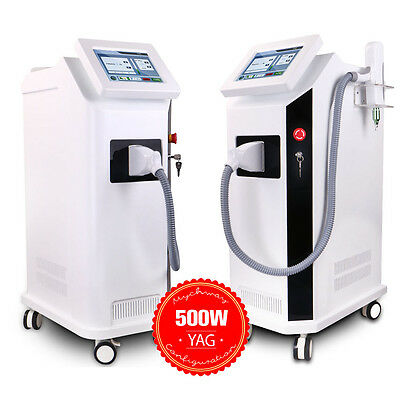 500W ND Yag Laser Tattoo Removal 1064nm 532nm Pigment Eyebrow Removal Machine SP