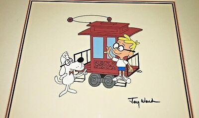Jay Ward Signed Cel Peabody Sherman Very Rare Special Scene Animation Cell