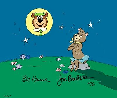 Yogi Bear Cindy Hanna Barbera Signed Cel Yearning For Yogi Rare Artist Proof