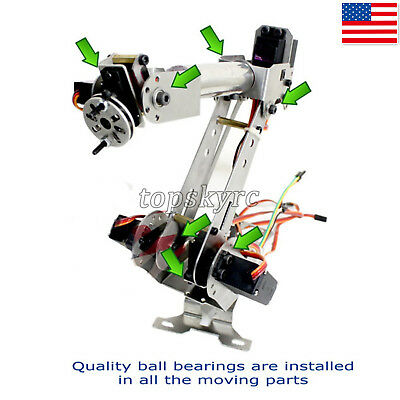 6DOF Mechanical Robotic Arm Clamp w/Servos DIY Kit for Robot Smart Car US STOCK