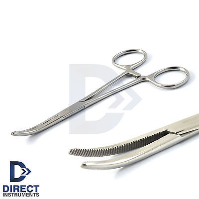 "Rochester Pean Locking Forceps 5.5"" Curved Surgical Hemostat Tattoo Piercing Lab"