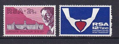 Sud Africa South Africa 1969 1° trapianto cardiaco 320-21 MNH