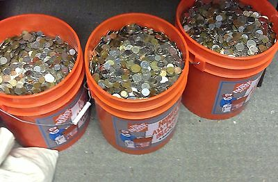 TEN POUNDS 10 Lb BULK UNSEARCHED WORLD FOREIGN COINS MANY COUNTRIES FREE SHIPPIN