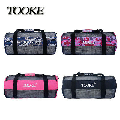 Portable Dive Swimming Storage Carry Mesh Bag for Diving Scuba Snorkel Fin Gear