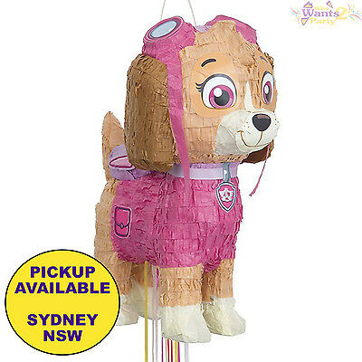 Paw Patrol Party Supplies Skye 3D Pull String Pinata Pinyata Girls Birthday Game