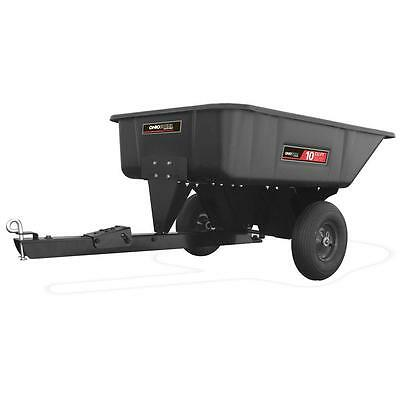 10 cu ft Poly Swivel Dump Lawn Garden Cart ATV Pull Behind Utility Wagon Carrier
