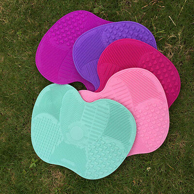 Makeup Brush Cleaner Cleaning Cosmetic washing Scrubber Board Mat Hand Pad Tool