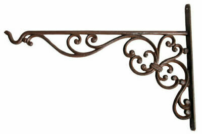 Decorative Hanging Basket Bracket Hook Cast Iron Garden Accessory