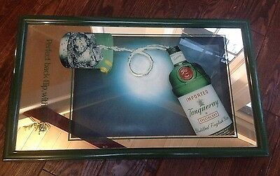 Tanqueray Gin Glass Mirror Bar Sign Picture Man Cave Deco 25x15