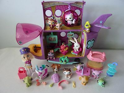 LITTLEST PET SHOP - AVION + FIGURINES + ACCESSOIRES -n°36