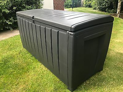 Keter Novel Plastic Waterproof Garden Storage Box With Sit On Lid Free Delivery