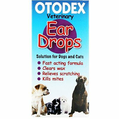 Otodex Ear Drops, soothing for cats & dogs - kills mites, clears wax  14ml