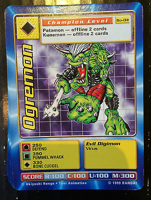 1999 BANDAI Digimon TCG Bo-04 Ogremon NM
