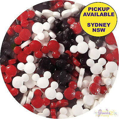 Mickey Mouse Party Supplies Wilton Cupcake Sprinkles Edible Sugar Toppers