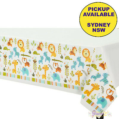 Jungle Baby Shower Party Supplies Plastic Tablecloth Table Cover Zoo Animals