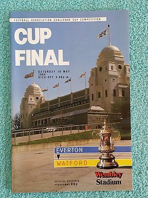 1984 - FA CUP FINAL PROGRAMME - EVERTON v WATFORD - V.G CONDITION