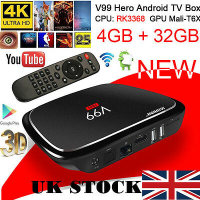 Octa Core Android 6.0 Smart TV Box 4GB+32GB 4K Dual Wi-Fi 2.4GHz/5GHz Player