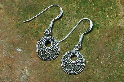 Viking Earrings Silver Spirals 925 Sterling Silver Earrings Viking Celtics