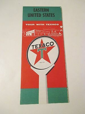 Vintage 1959 TEXACO EASTERN US Gas Service Station Road Map
