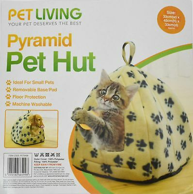 Pet Pyramid Hut/Bed Cat Small Dog Brown/Black