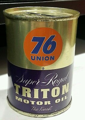 Vintage RARE Gasoline Union 76 -  Super - Royal - Triton  Motor Oil Bank
