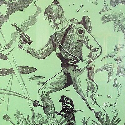 1930's ORIGINAL ARTWORK JOIN BUCK ROGERS SOLAR SCOUTS SIGNED BY DICK CALKINS