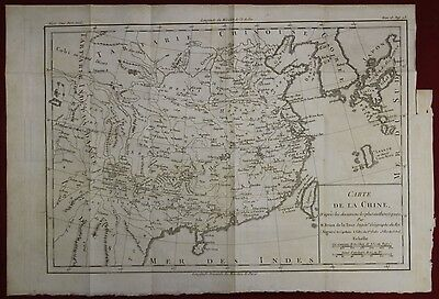China Korea Taiwan 1780 Brion De La Tour Antique Original Copper Engraved Map