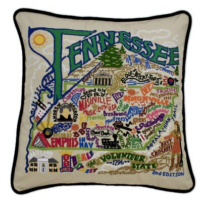 Tennessee Hand-Embroidered Pillow