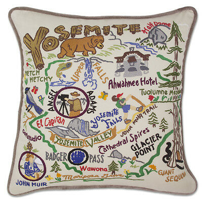 Yosemite Hand-Embroidered Pillow