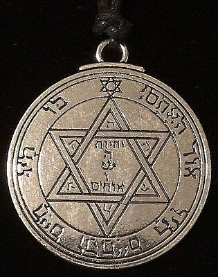Pentacle of Mars Solomon Seal Talisman Hermetic Kabbalah Goetic Amulet w/Bag!
