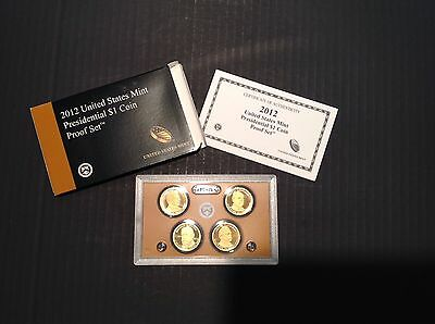 2012-S Presidential Dollar Proof Set w/Box and COA