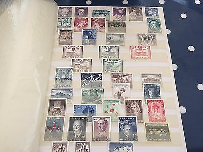 Austria nhm stamps collection in stockbook good lot very varied with better vals