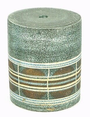 -Ab Alison Brigden- Troika St Ives Grey/blue Circle Drum Cylinder Lamp Base Vase