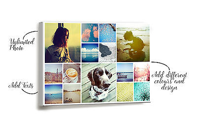 Personalised Canvas Collage Printing Your Photo Collage Printed Box Framed Decor