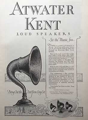 1925 Ad(F21)~Atwater Kent Loud Speakers, Atwater Kent Mfg. Co. Phil.,pa.
